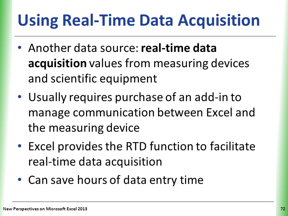 Using Real-Time Data Acquisition