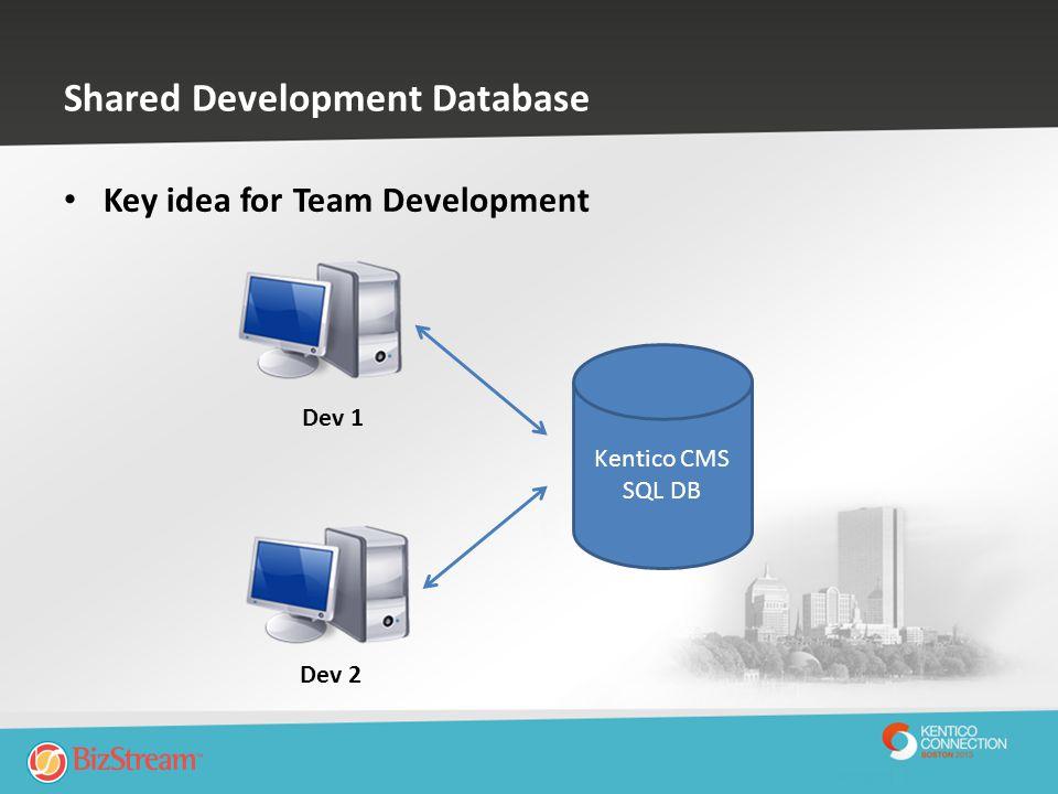 Shared Development Database