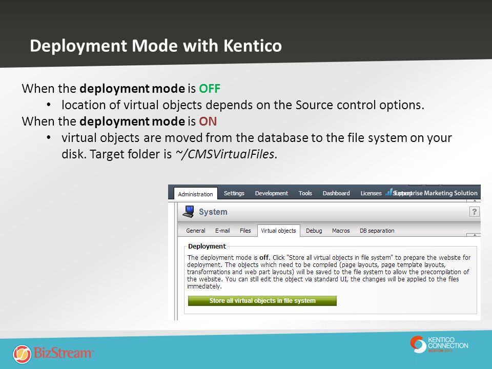 Deployment Mode with Kentico