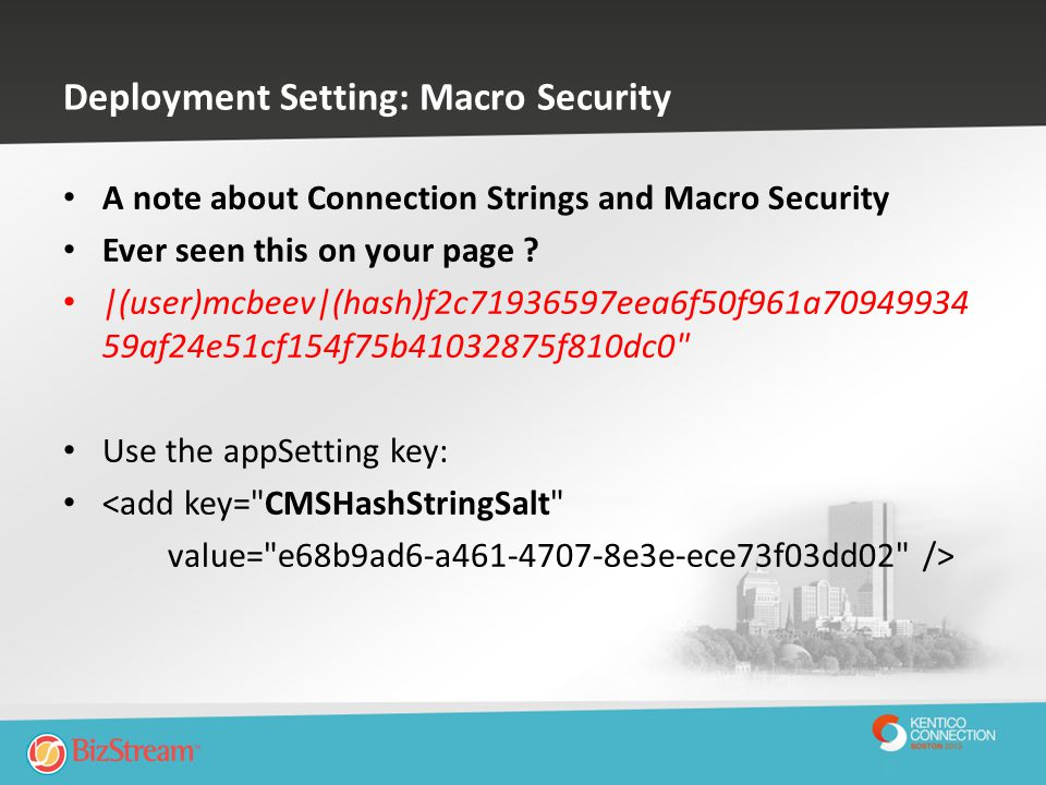 Deployment Setting: Macro Security