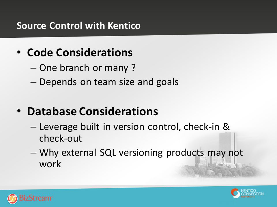 Source Control with Kentico