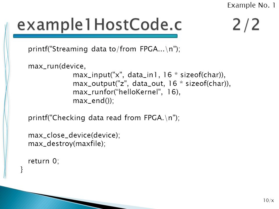 Example No. 1 example1HostCode.c 2/2.