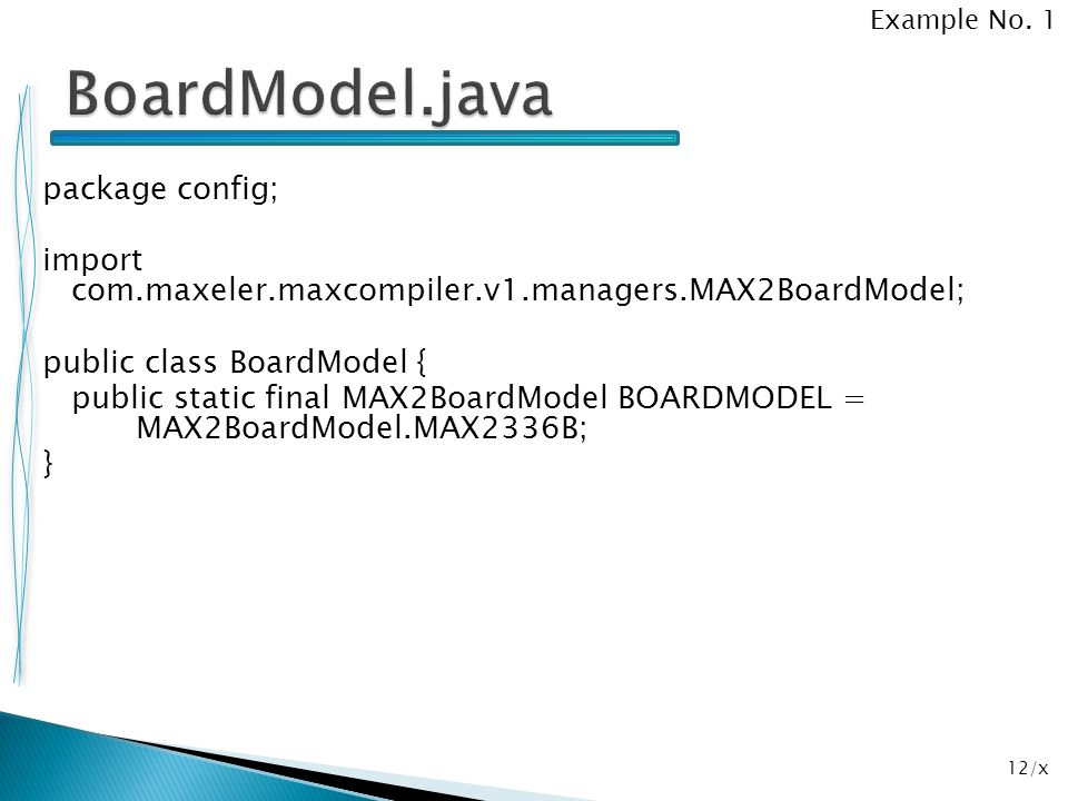 Example No. 1 BoardModel.java.