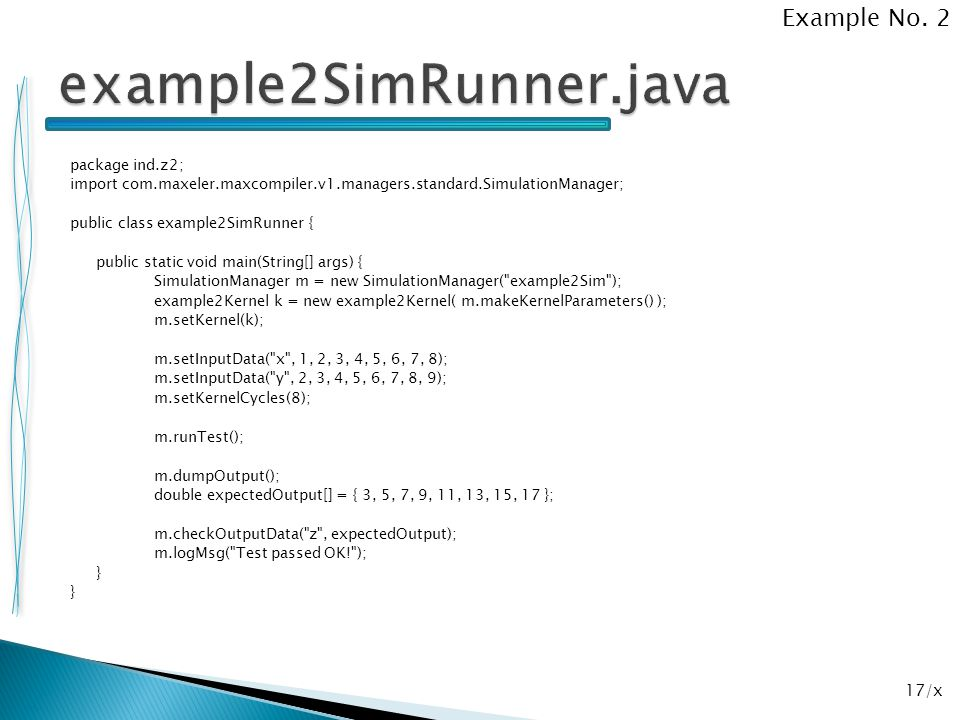 example2SimRunner.java Example No. 2