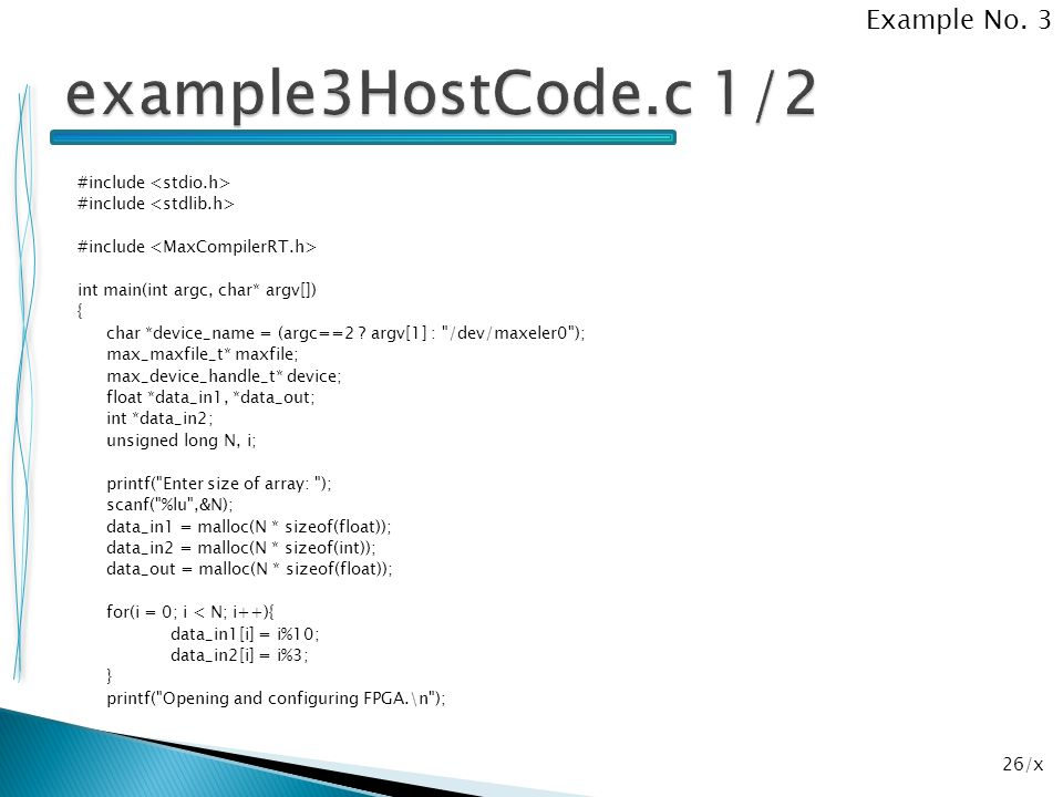 example3HostCode.c 1/2 Example No. 3