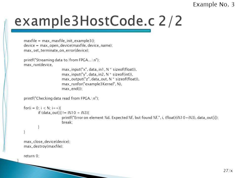 example3HostCode.c 2/2 Example No. 3