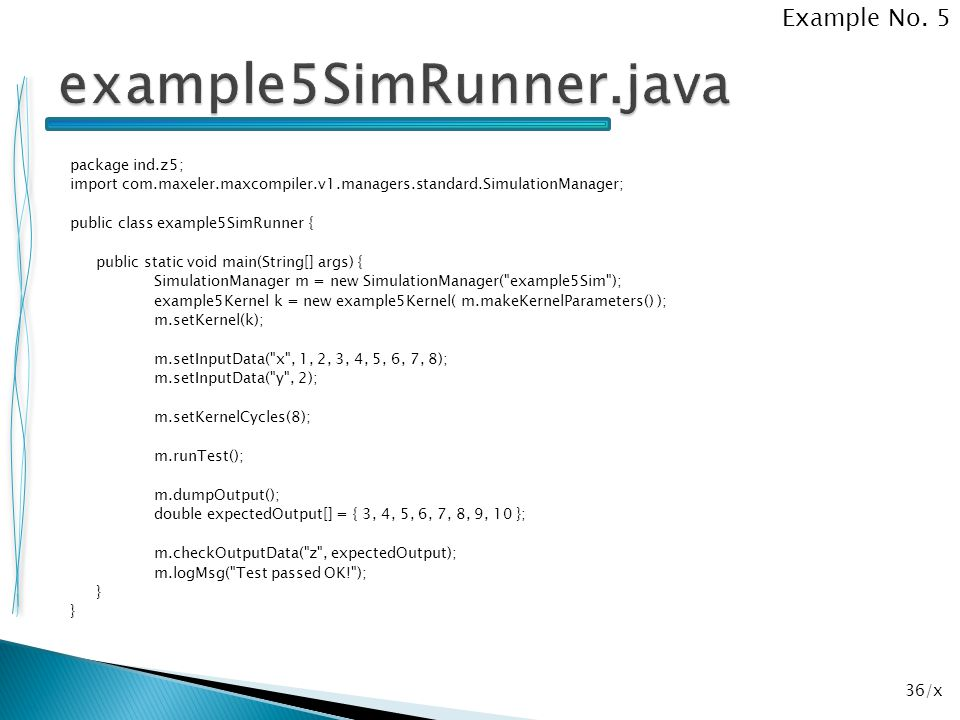 example5SimRunner.java Example No. 5