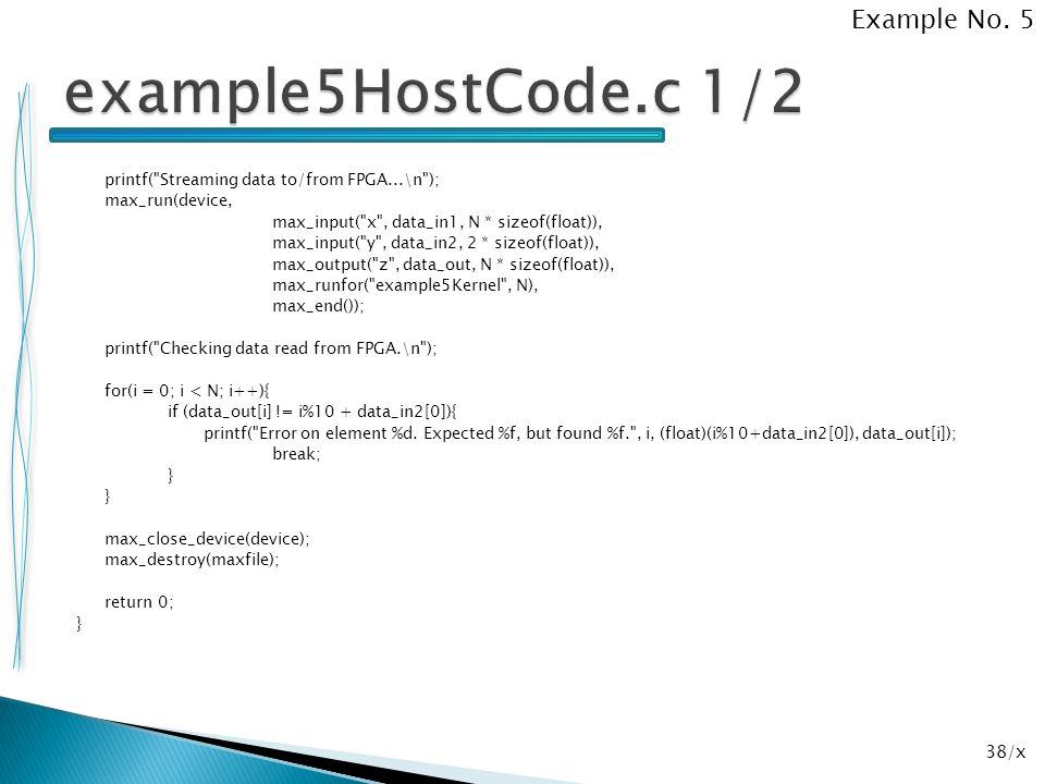 example5HostCode.c 1/2 Example No. 5