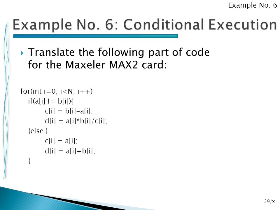 Example No. 6: Conditional Execution