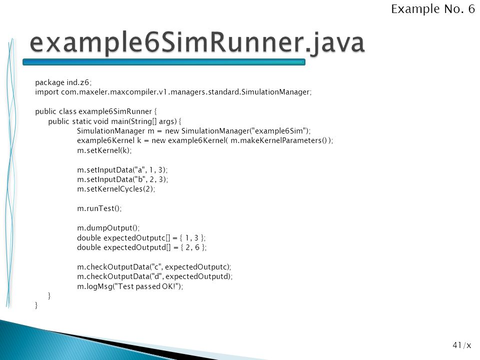 example6SimRunner.java Example No. 6