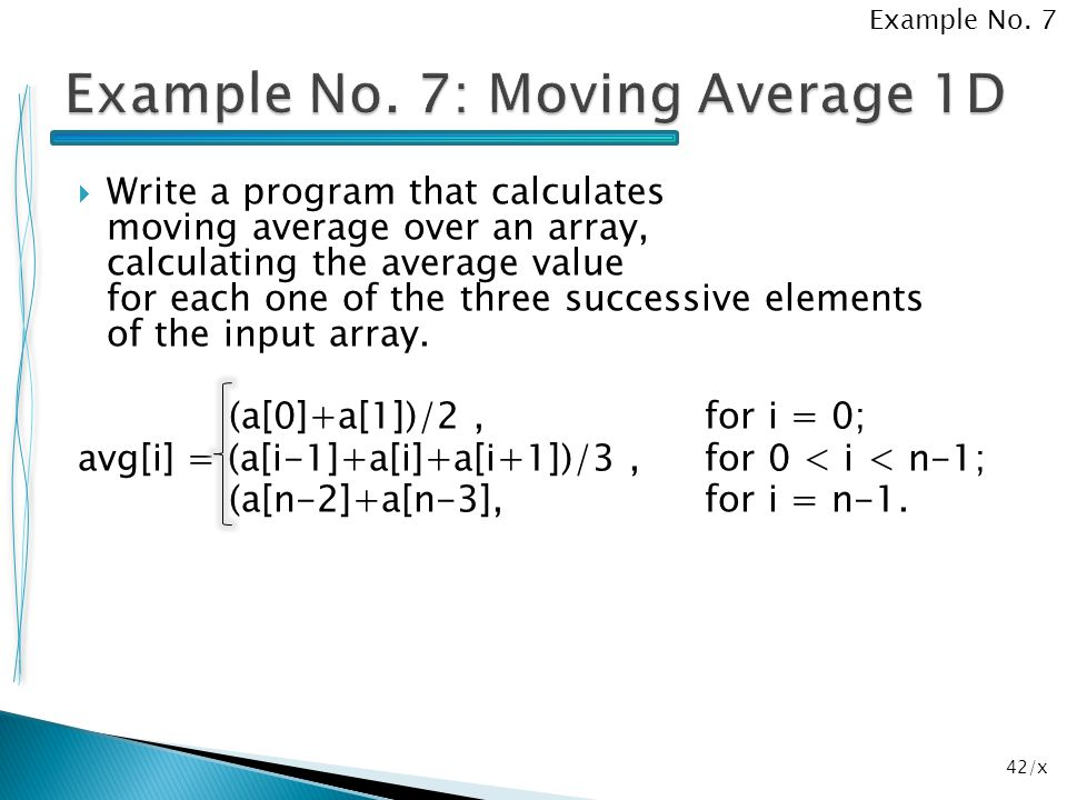 Example No. 7: Moving Average 1D