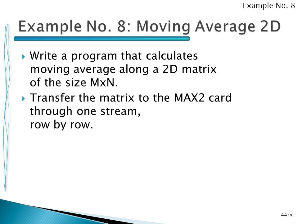 Example No. 8: Moving Average 2D
