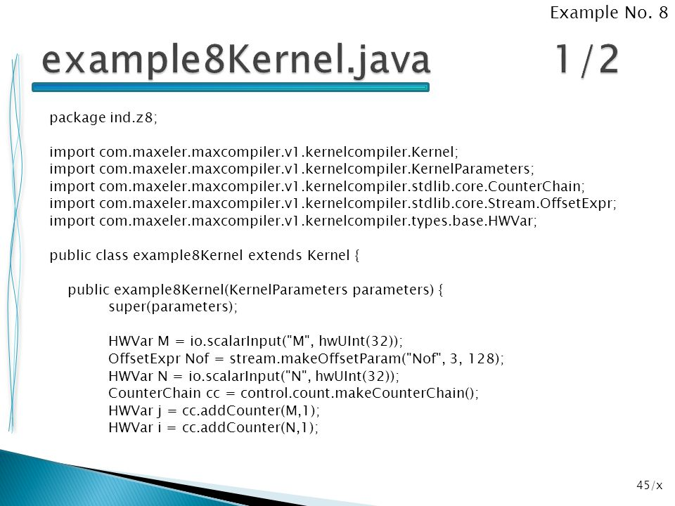 example8Kernel.java 1/2 Example No. 8