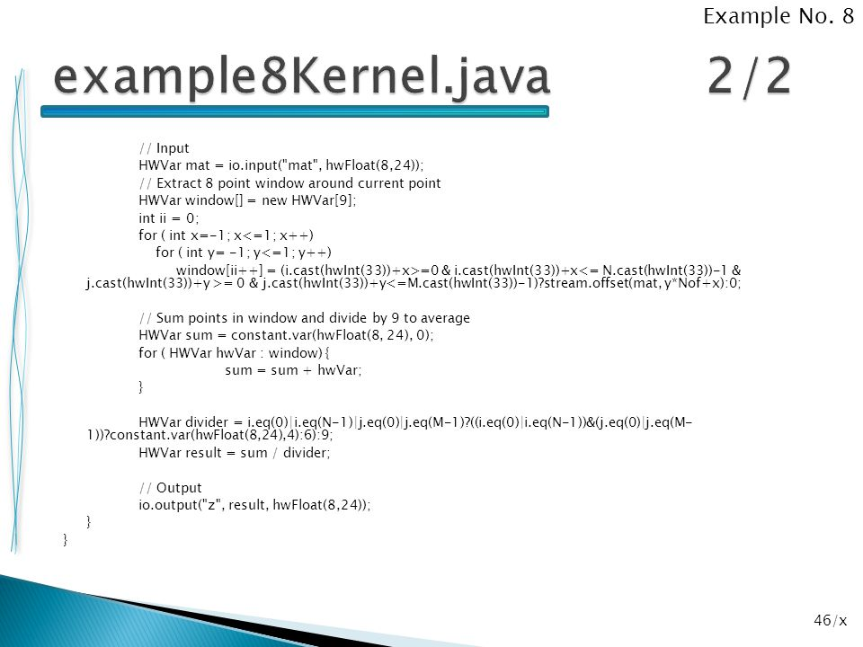 example8Kernel.java 2/2 Example No. 8