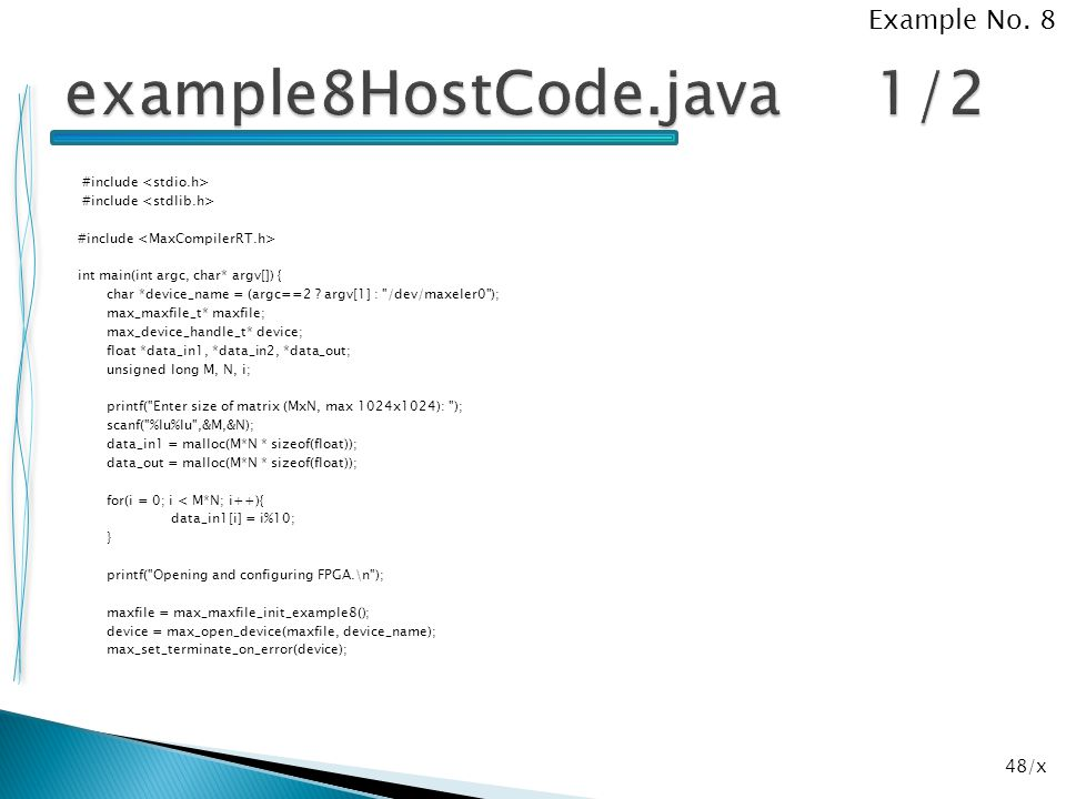 example8HostCode.java 1/2