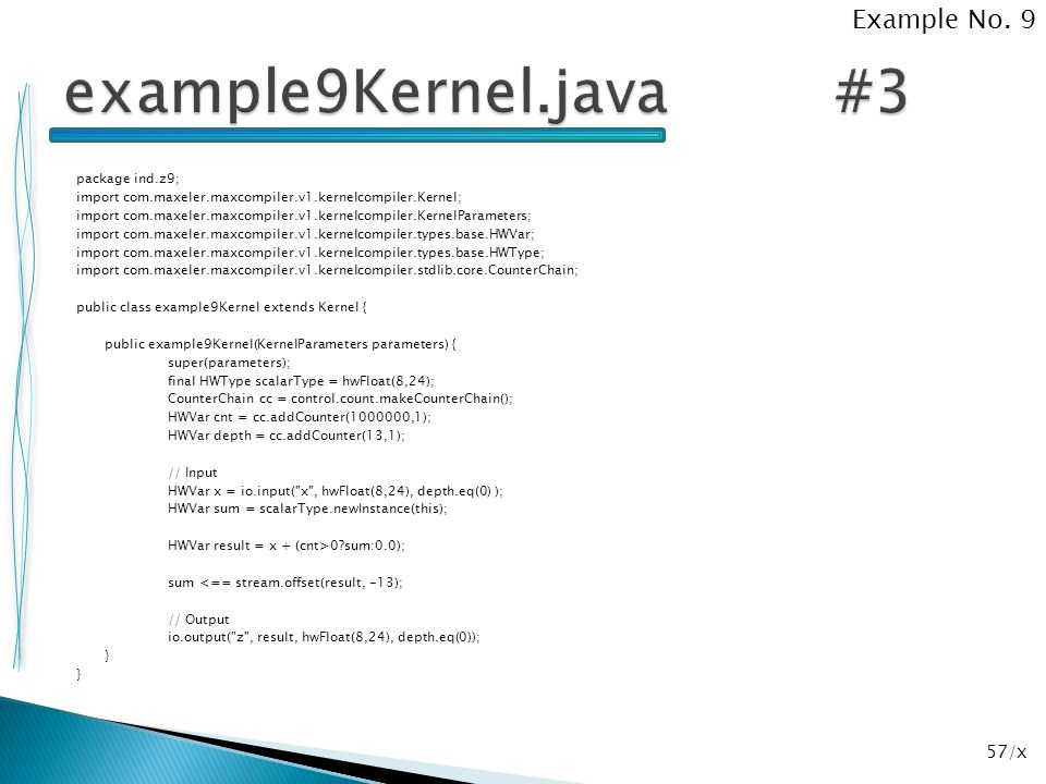 example9Kernel.java #3 Example No. 9