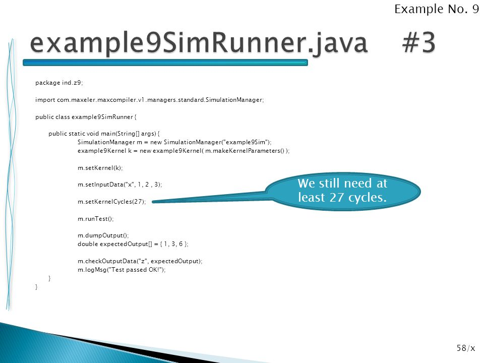 example9SimRunner.java #3