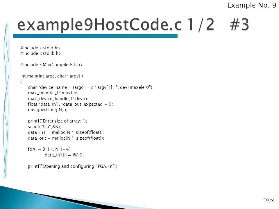 example9HostCode.c 1/2 #3 Example No. 9