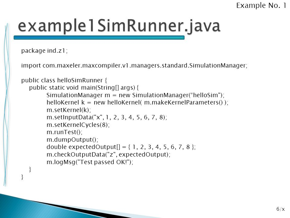 example1SimRunner.java Example No. 1