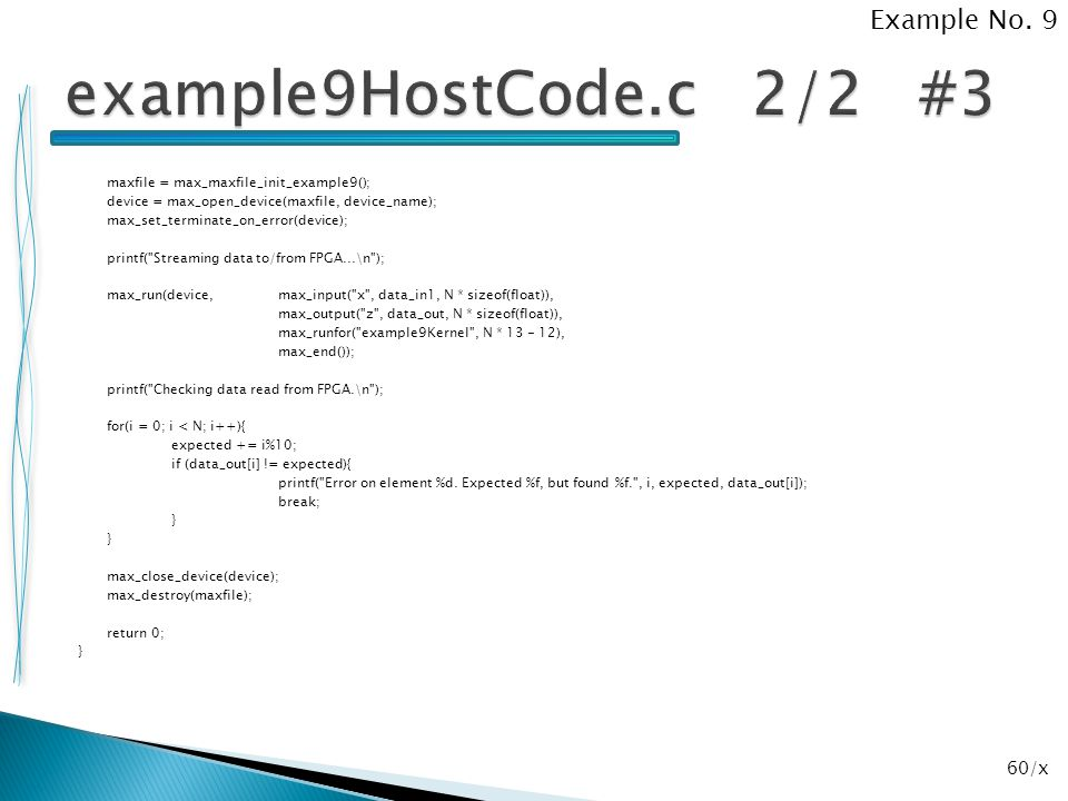 example9HostCode.c 2/2 #3 Example No. 9