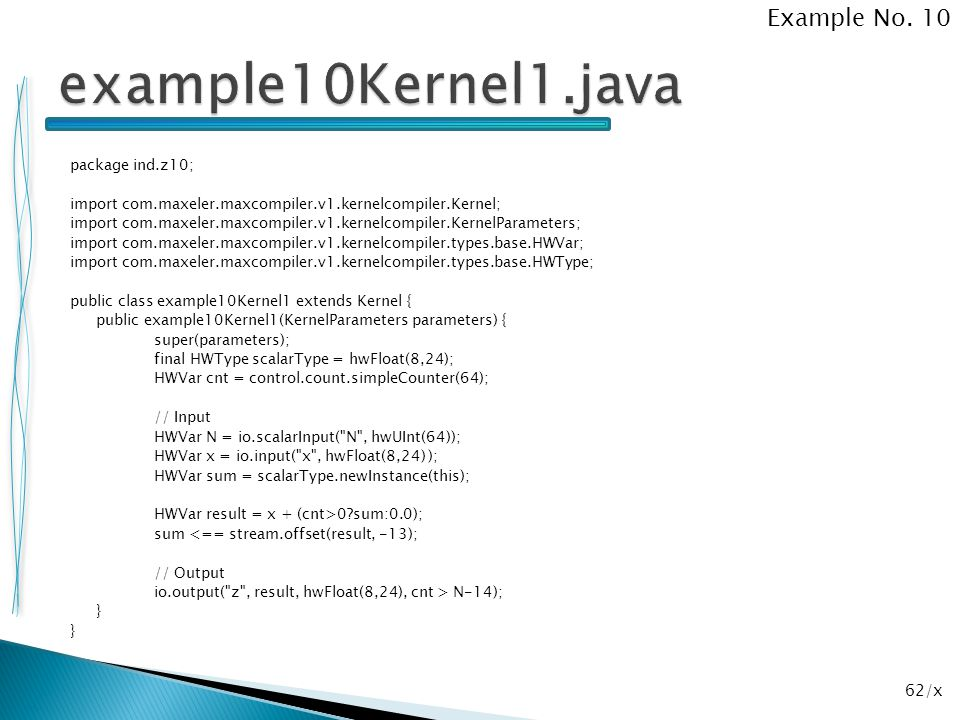 example10Kernel1.java Example No. 10