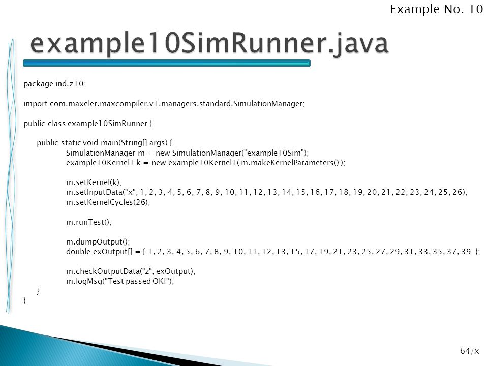 example10SimRunner.java Example No. 10
