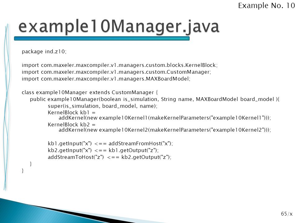 example10Manager.java Example No. 10