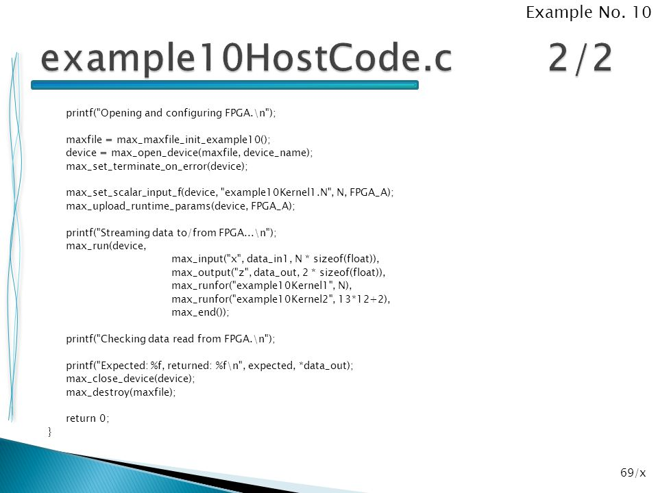 example10HostCode.c 2/2 Example No. 10