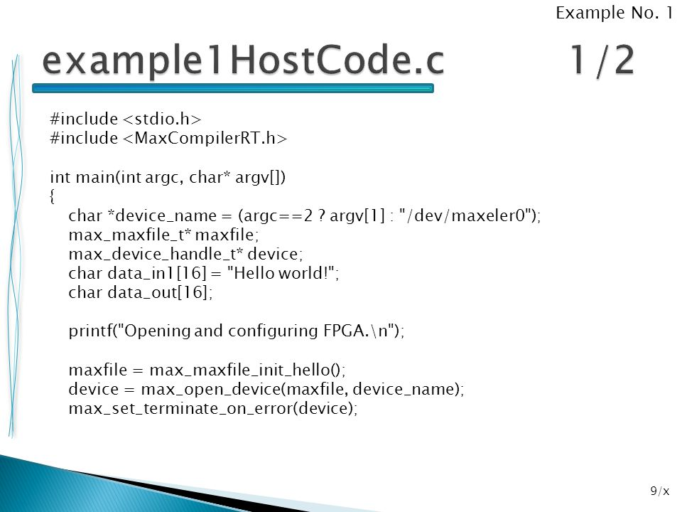 example1HostCode.c 1/2 Example No. 1