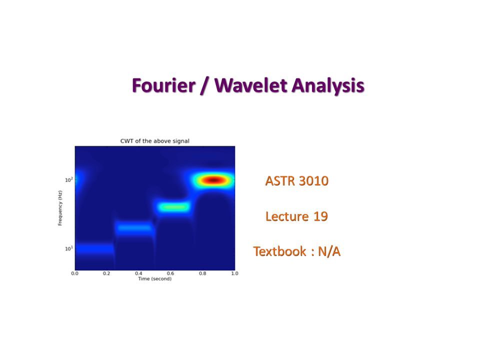 Fourier / Wavelet Analysis