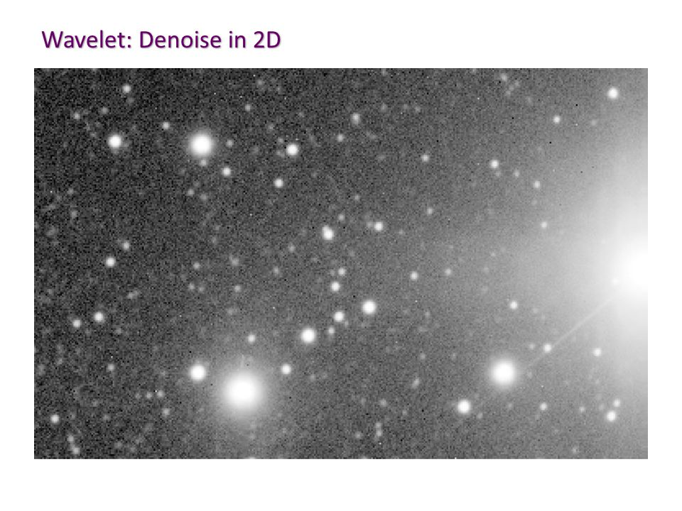 Wavelet: Denoise in 2D
