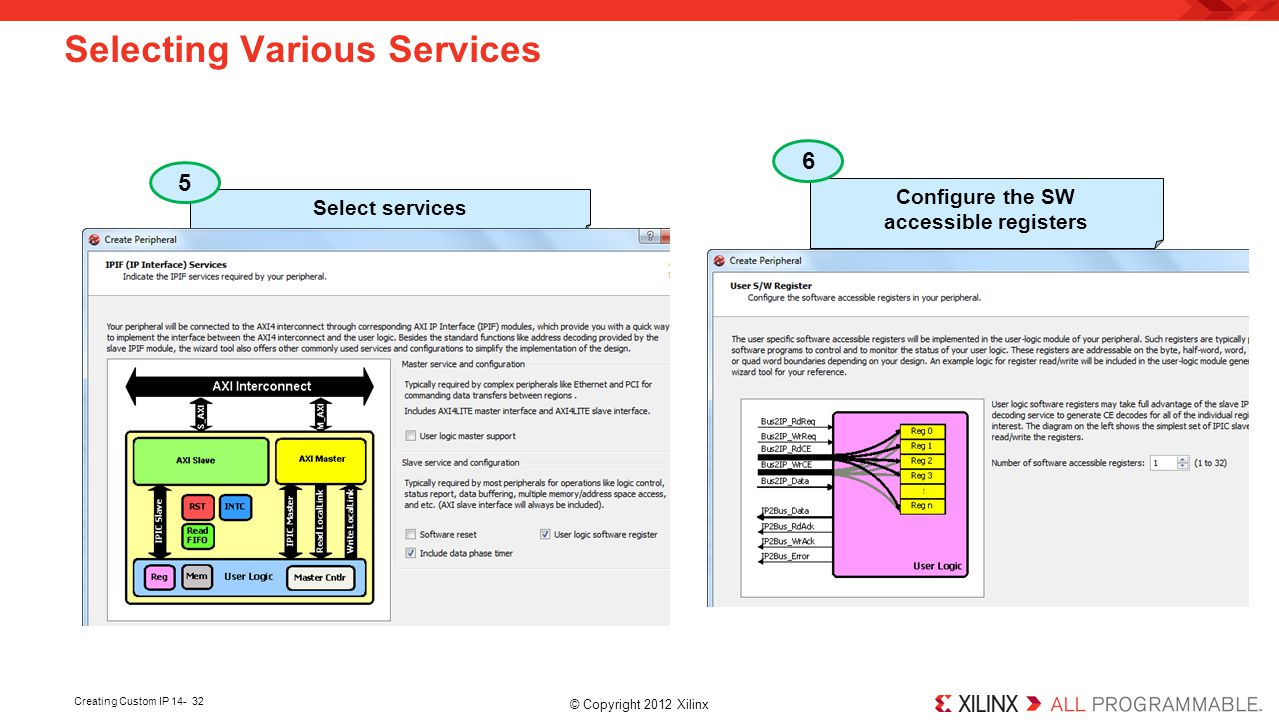 Selecting Various Services
