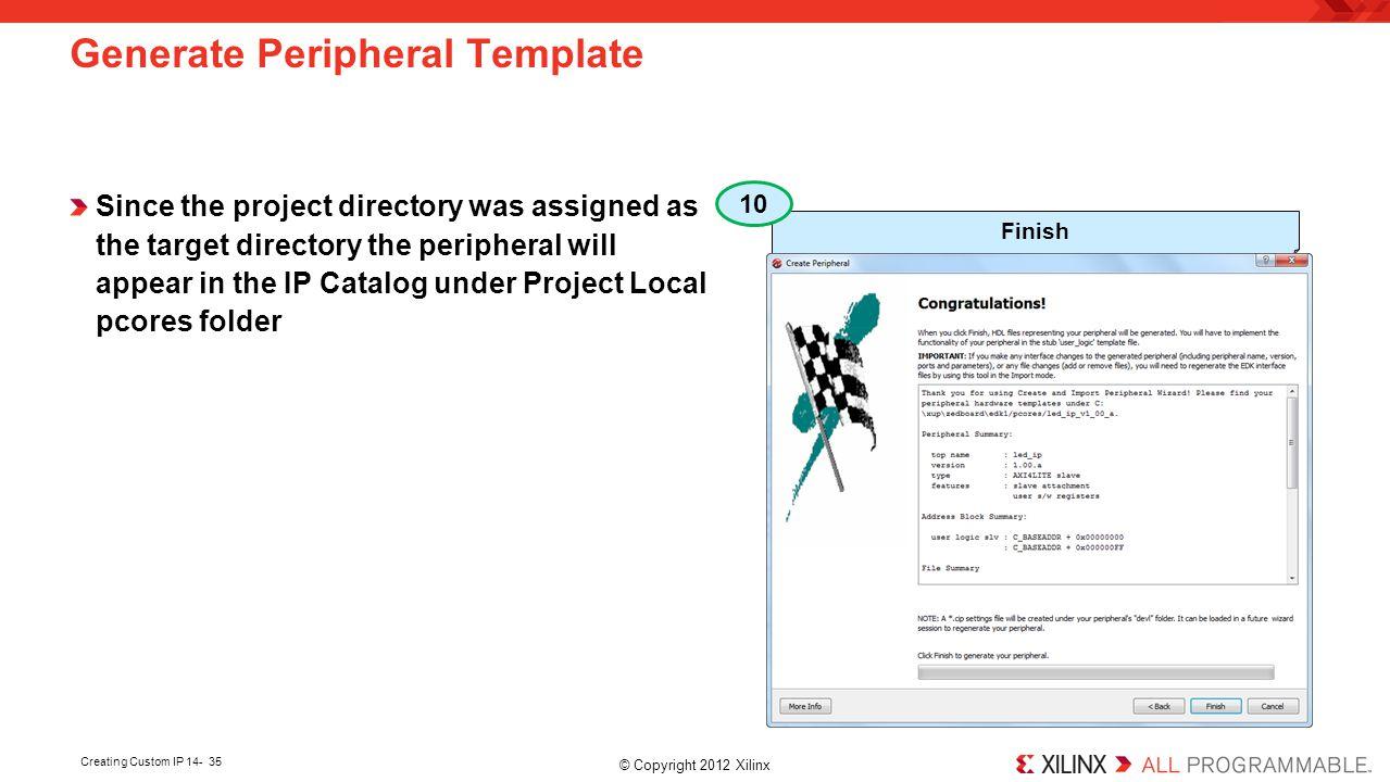 Generate Peripheral Template