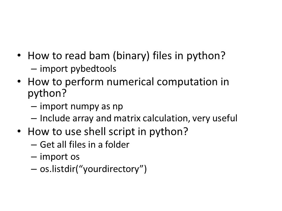 How to read bam (binary) files in python