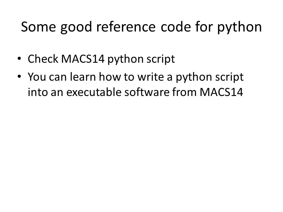 Some good reference code for python