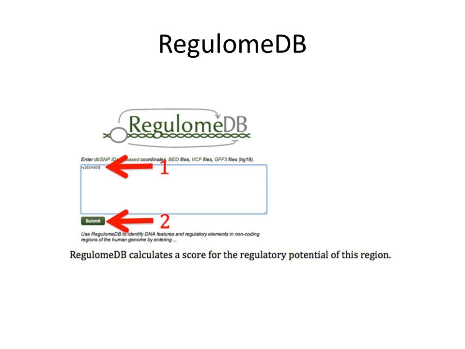 RegulomeDB
