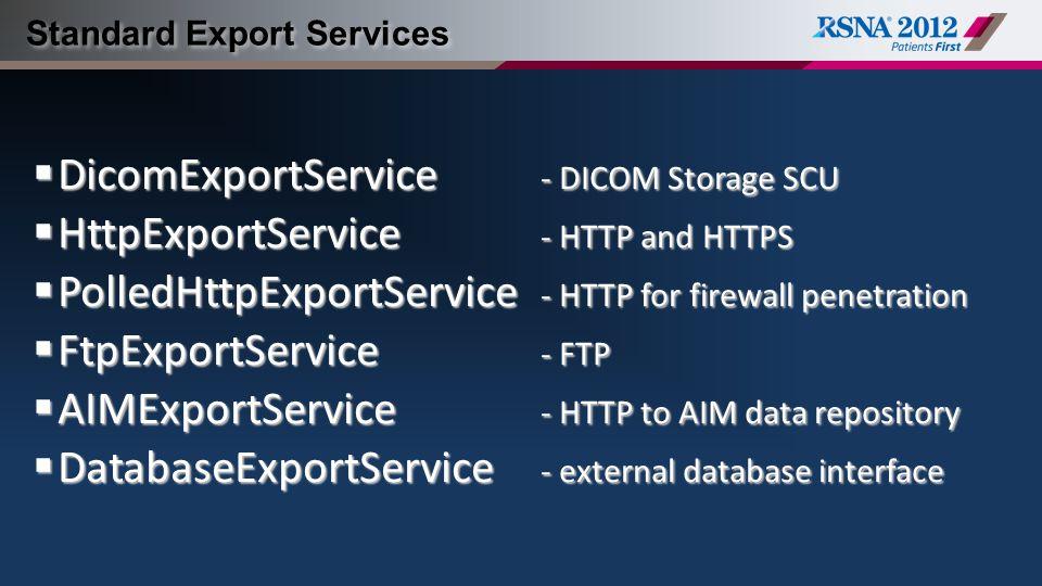 Standard Export Services