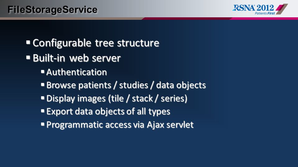 Configurable tree structure Built-in web server