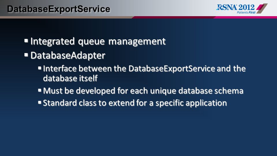 DatabaseExportService
