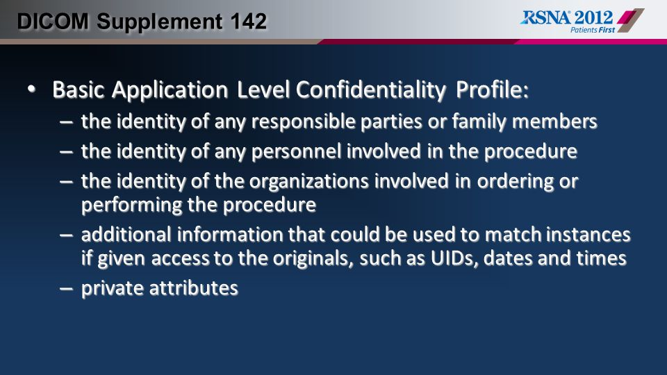Basic Application Level Confidentiality Profile: