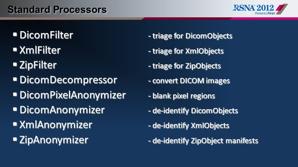 DicomFilter - triage for DicomObjects