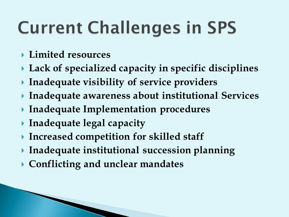 Current Challenges in SPS