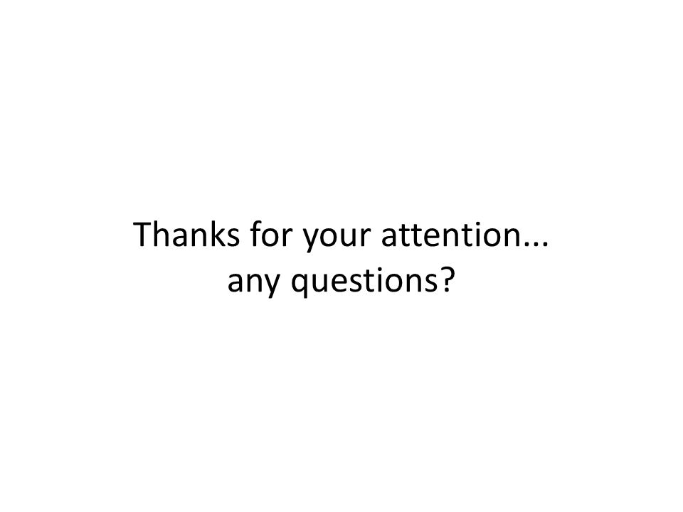 Thanks for your attention... any questions