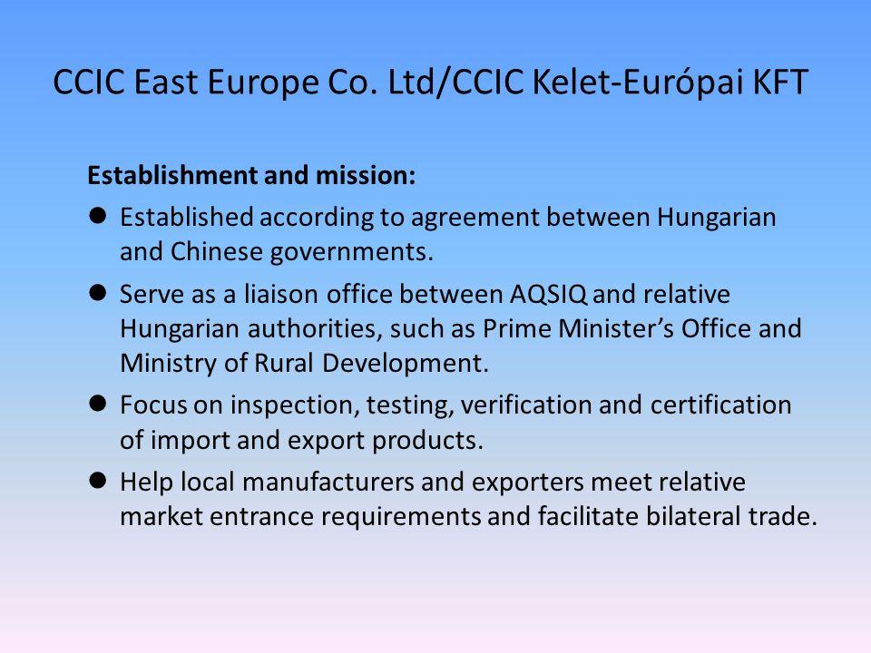 CCIC East Europe Co. Ltd/CCIC Kelet-Európai KFT