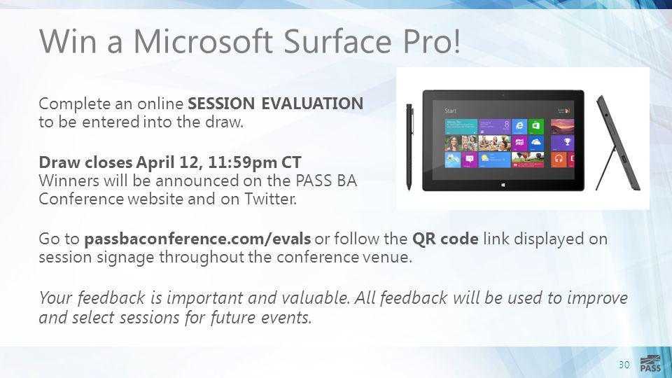 Win a Microsoft Surface Pro!