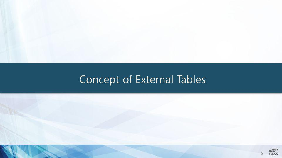 Concept of External Tables