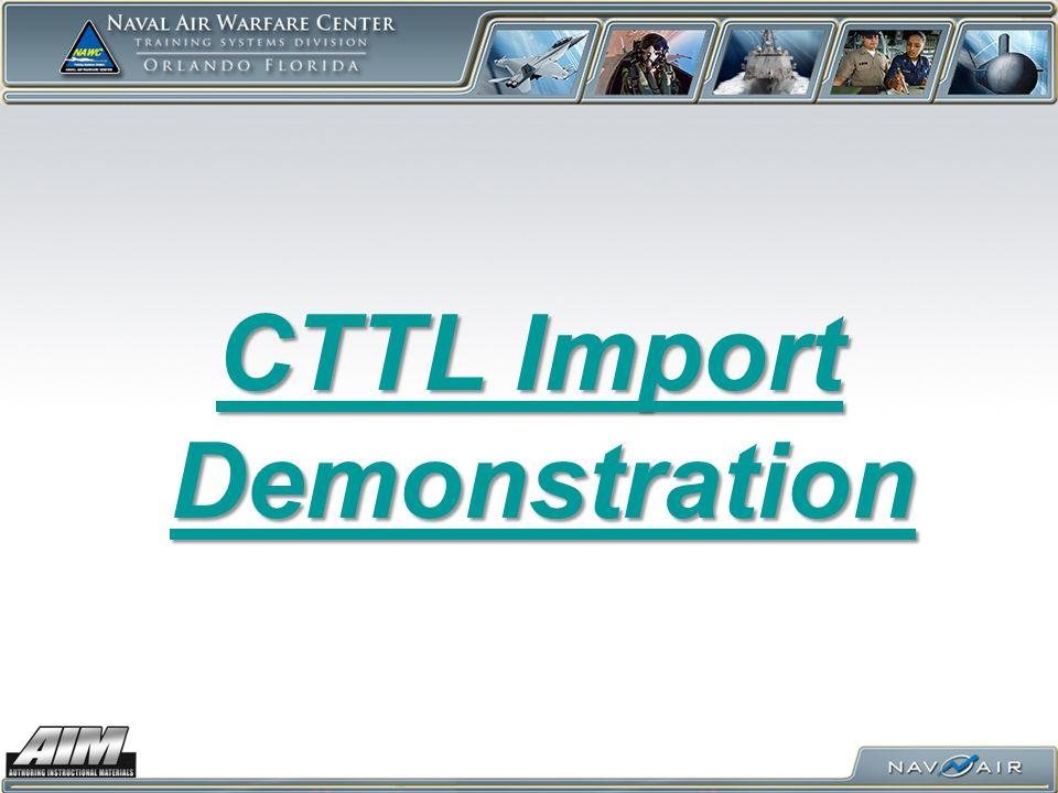 CTTL Import Demonstration