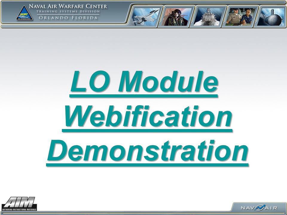 LO Module Webification Demonstration