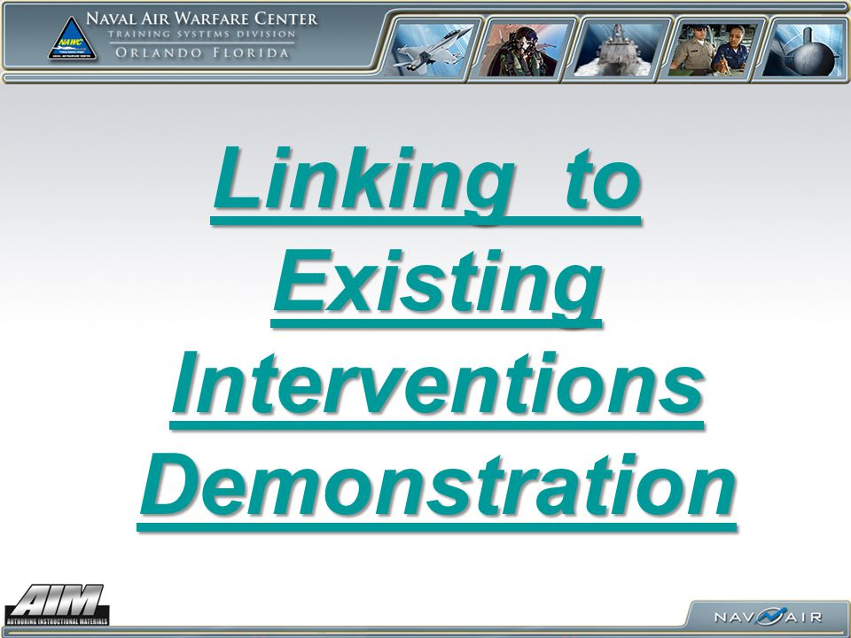 Linking to Existing Interventions Demonstration
