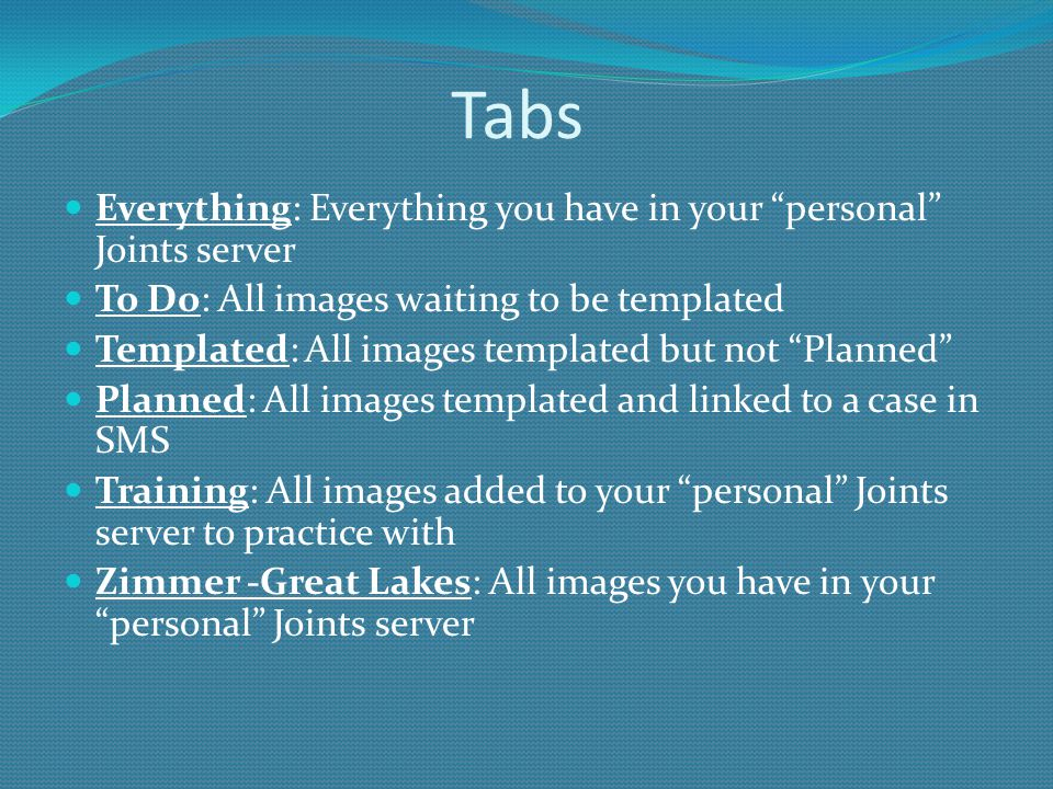 Tabs Everything: Everything you have in your personal Joints server